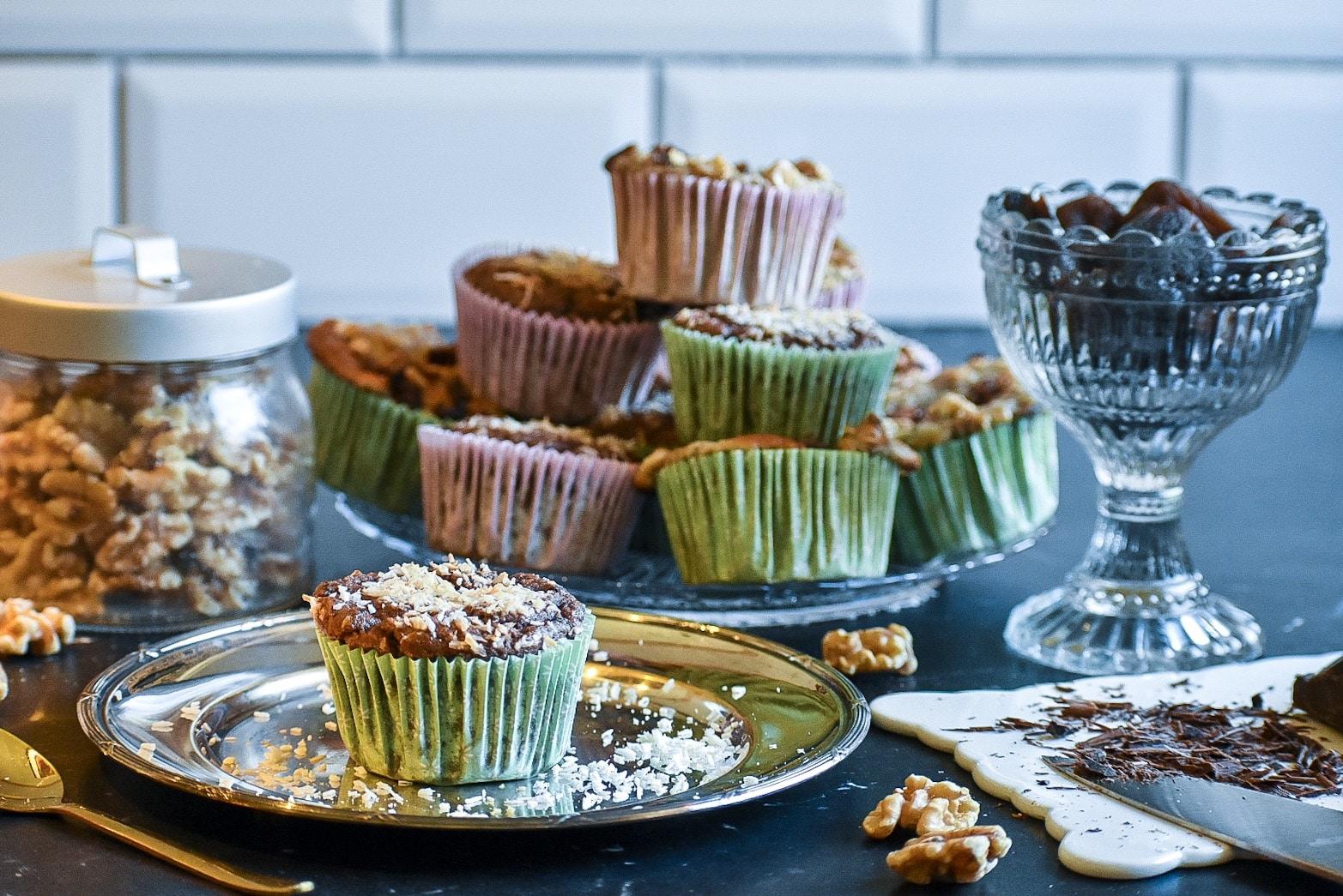 Recept- hälsosamma muffins med två smaker