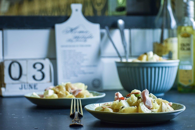 Ljummen potatissallad med kalkon och fetaost