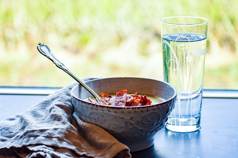 Middagstips- potatis och purjolökssoppa med kalkon