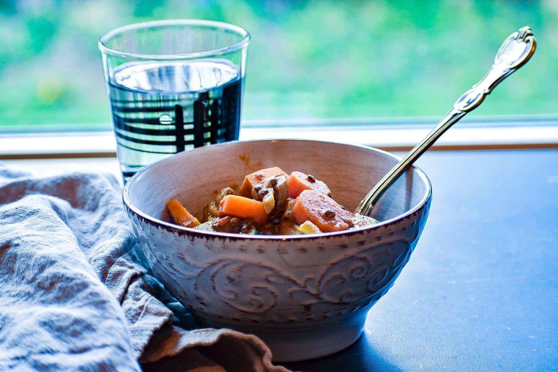 Middagstips- linsgryta med indiska smaker