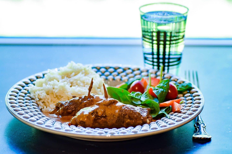 Middagstips- rullader med ädelost och pesto