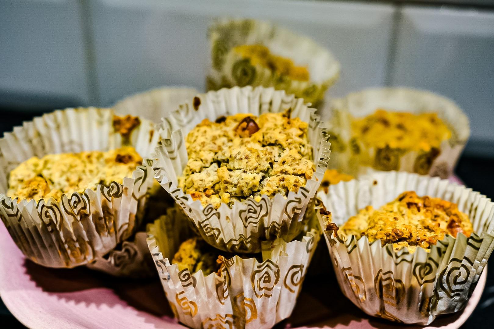 Recept- matmuffins utan ägg med aprikoser och valnötter