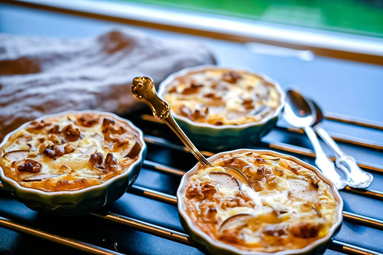 Recept- rispudding med päron och valnötter